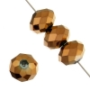 Ori Crystal (Chinese Donut) 4X6mm Metallic Copper